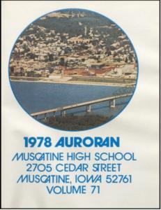 1978 Auroran Muscatine High School