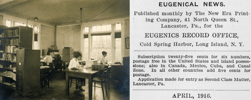 eugenics record office in long island, ny