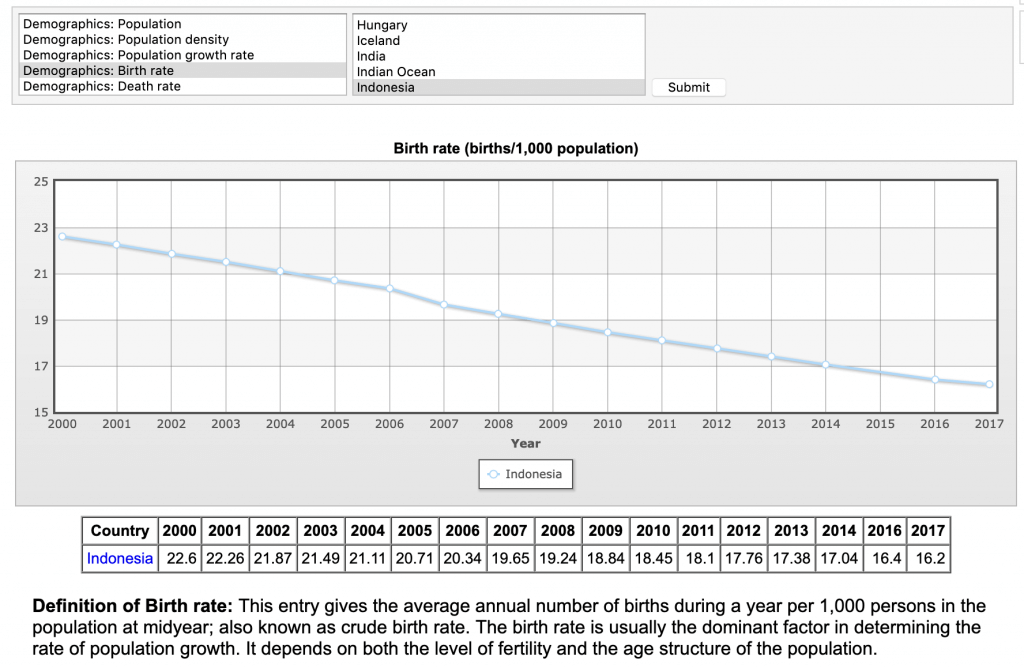 indonesia birth rate decline