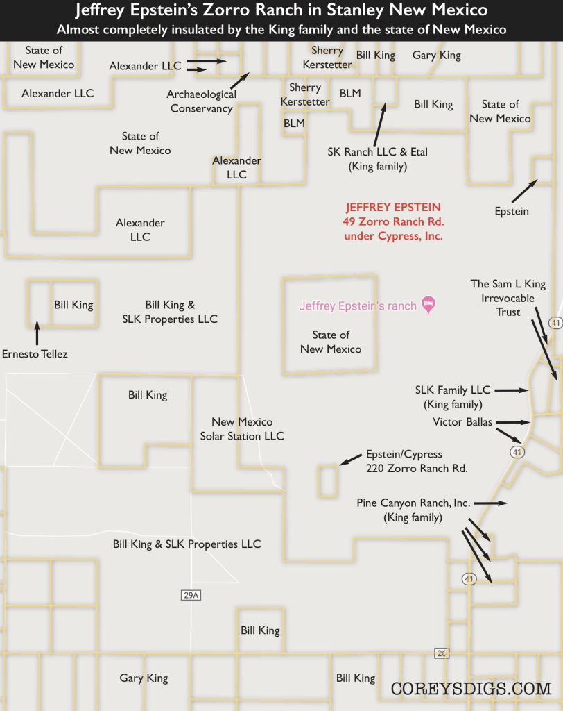 Jeffrey Epstein parcel New Mexico