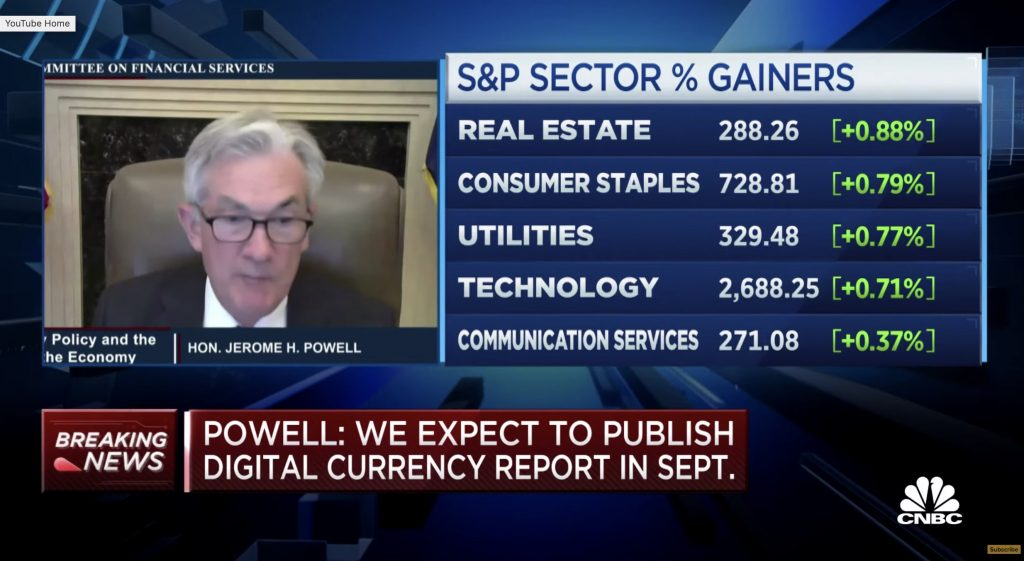 Powell digital currency report